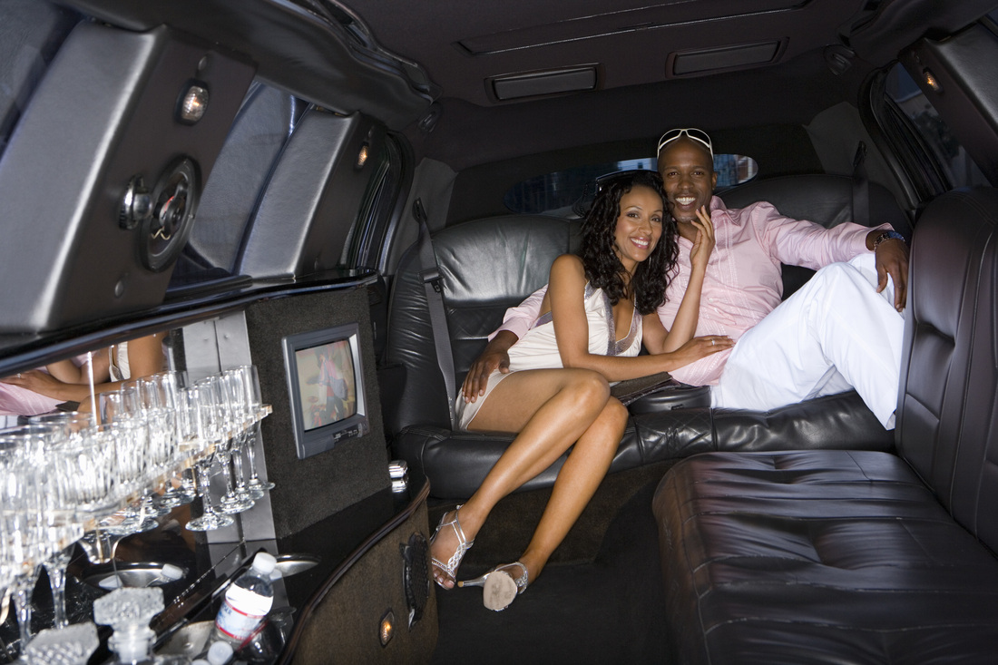 Celebrity in limo
